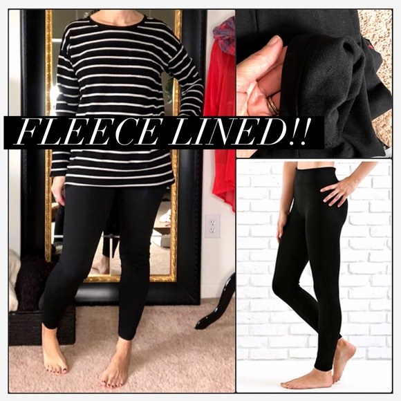 a52bb2fd867 🖤Black 🖤 Fleece Lined Plus Size Leggings